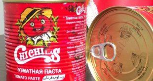 رب گوجه فرنگی قوطی فلزی با درب آسان باز شو