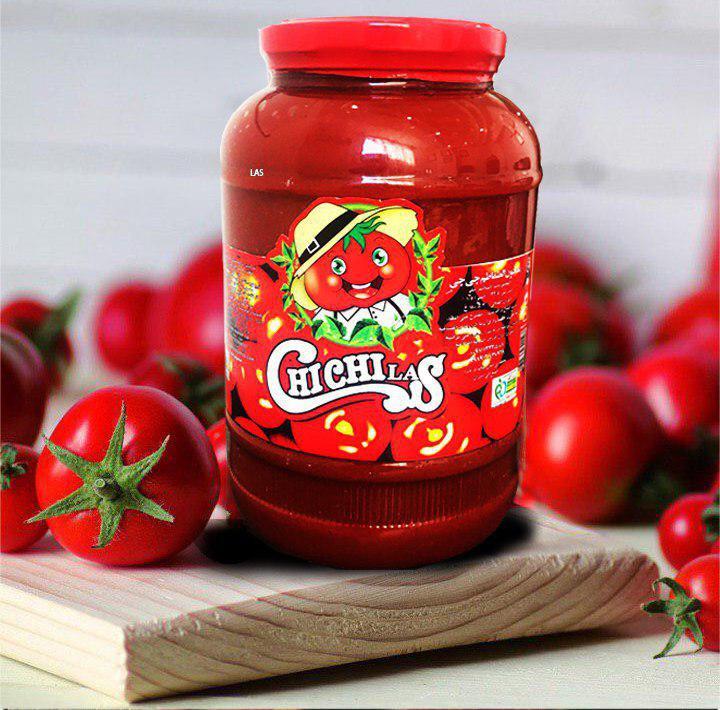 رب گوجه فرنگی شیشه ای چی چی لاس