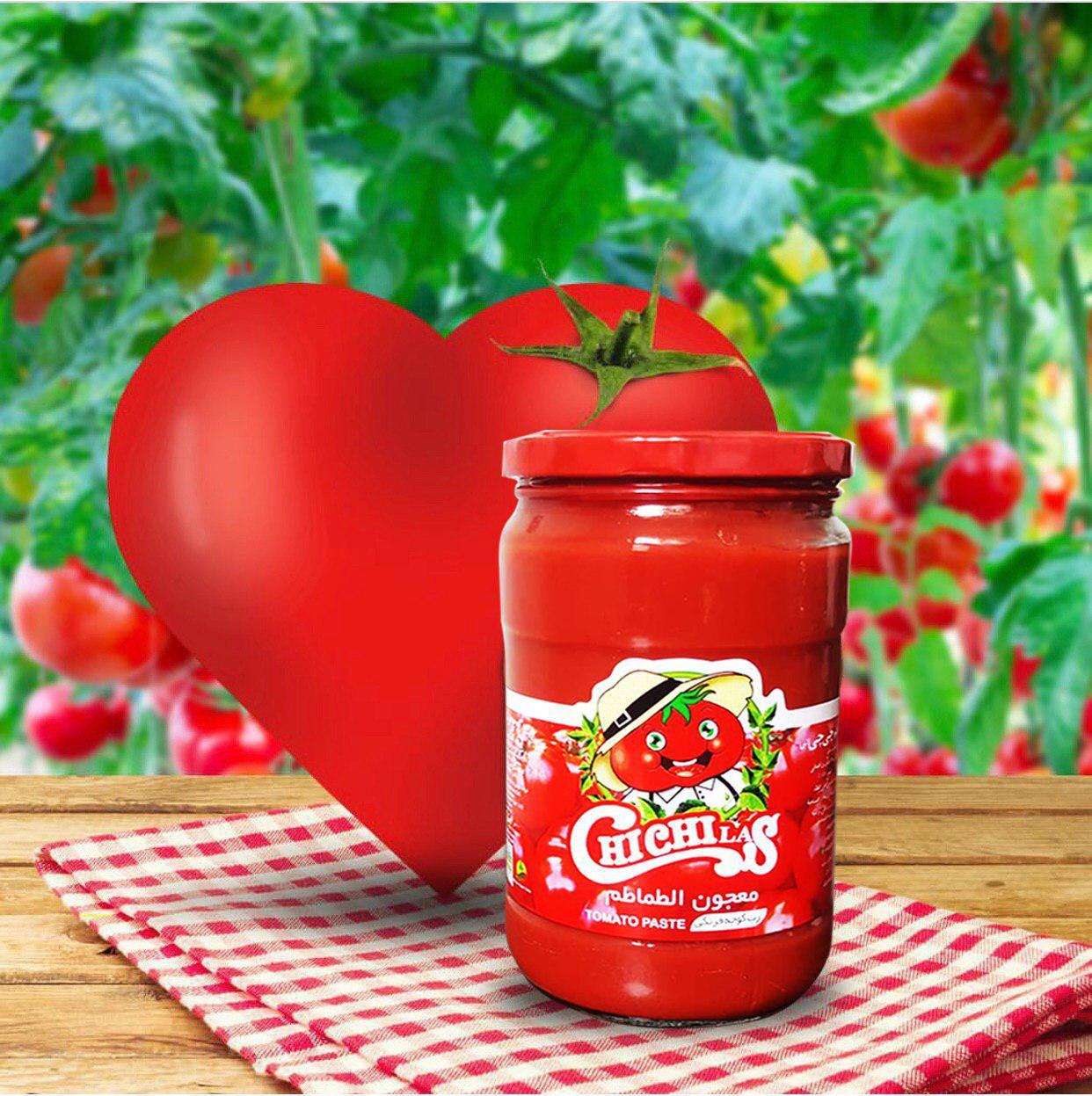 رب گوجه فرنگی شیشه ای