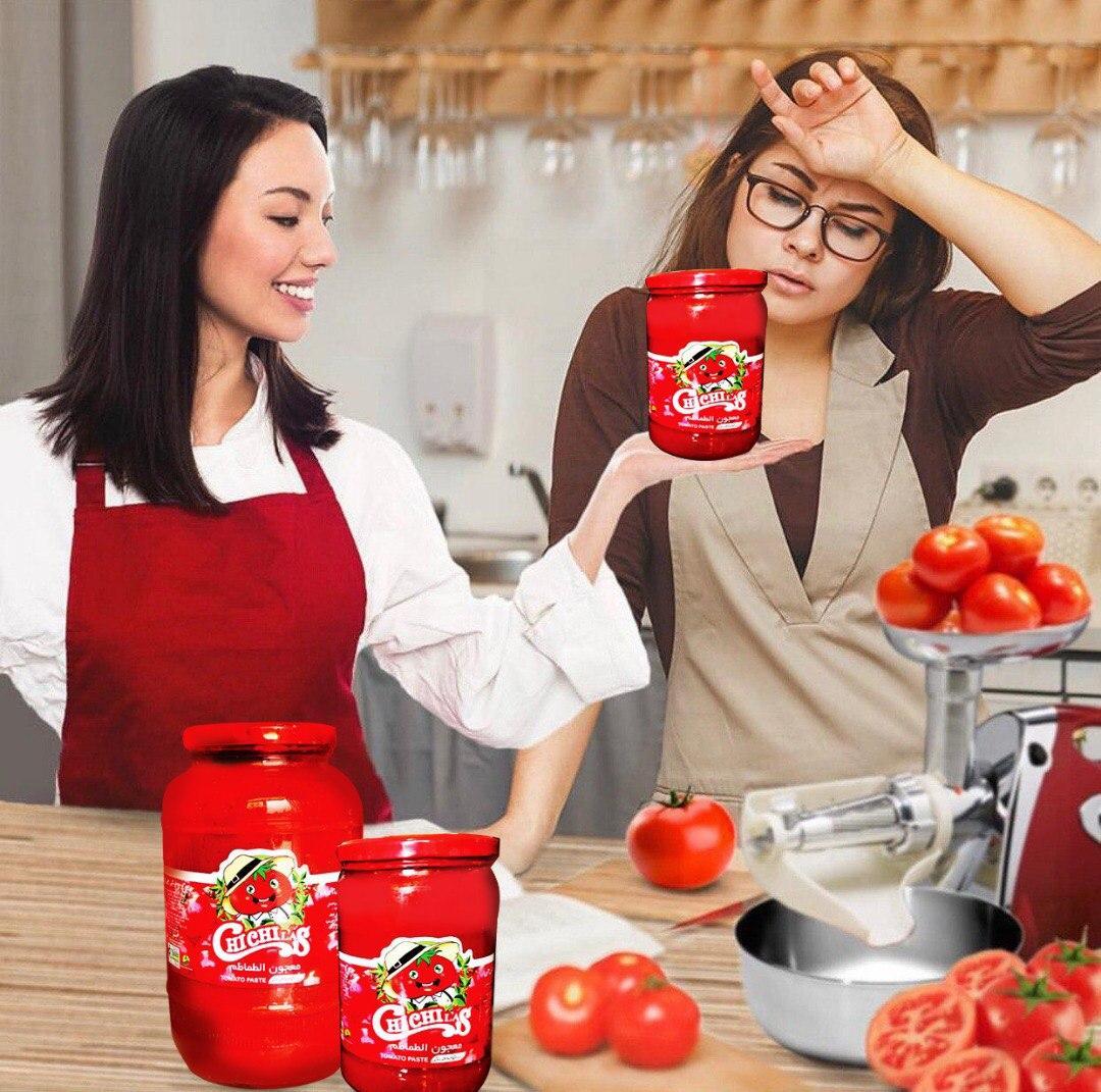 رب گوجه فرنگی شیشه 500 گرمی چی چی لاس