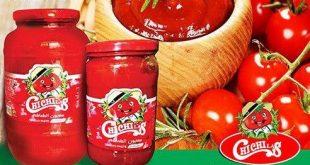 رب گوجه شیشه تولید کارخانه خزر عصاره وارنا